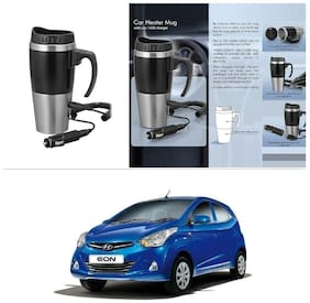AutoStark Car Heater Mug With Car/USB Charger 500 ml Electric Kettle For Hyundai Eon