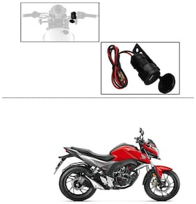 AutoStark Circular Waterproof Bike / Motorcycle USB Charger USB Mobile Charger For Honda CB Hornet 160R