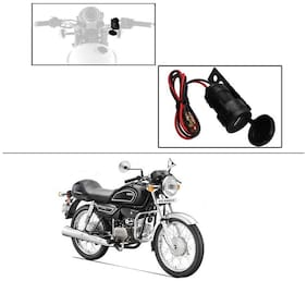 AutoStark Circular Waterproof Bike / Motorcycle USB Charger USB Mobile Charger For Hero Splendor Pro Classic