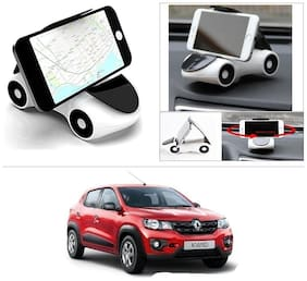 AutoStark Cute Phone Holder Car Shape Phone Stand 360 Rotating Bracket Suction Cup Mount Holder White For Renault kwid