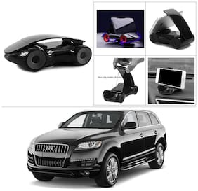 AutoStark Cute Phone Holder Car Shape Phone Stand 360 Rotating Bracket Suction Cup Mount Holder Black For Audi Q7