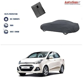 AutoSun Double Stiching Car Body Cover Grey For Hyundai Xcent (2014 Upwards)