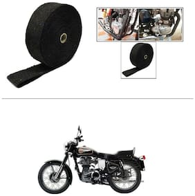 AutoStark Exhaust Wrap Silencer Wrap Black 5M  For Royal Enfield Bullet 350