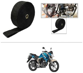 AutoStark Exhaust Wrap Silencer Wrap Black 5M  For Yamaha FZ S V 2.0