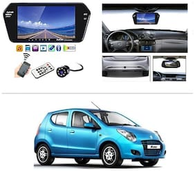 AutoStark Full HD LED Reverse Parking Screen with Bluetooth MP5 SD Card USB + 8 LED Parking Camera for Maruti Suzuki A-Star