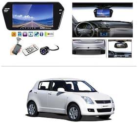 AutoStark Full HD LED Reverse Parking Screen with Bluetooth MP5 SD Card USB + 8 LED Parking Camera for Maruti Suzuki Swift