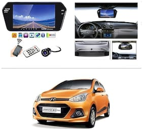 AutoStark Full HD LED Reverse Parking Screen with Bluetooth MP5 SD Card USB + 8 LED Parking Camera for Hyundai Grand I10