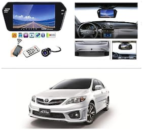AutoStark Full HD LED Reverse Parking Screen with Bluetooth MP5 SD Card USB + 8 LED Parking Camera for Toyota Corolla Altis