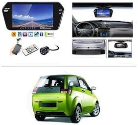 AutoStark Full HD LED Reverse Parking Screen with Bluetooth MP5 SD Card USB + 8 LED Parking Camera for Mahindra E2o (reva)