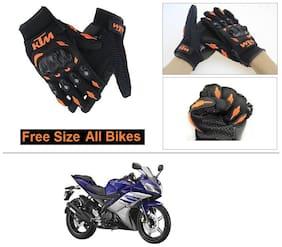 AutoStark Gloves KTM Bike Riding Gloves Orange and Black Riding Gloves Free Size For Yamaha R15