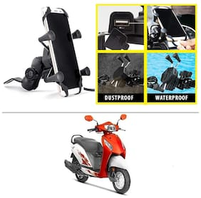 AutoStark Grip Premium Bike Mobile Charger & Phone Holder Version 2 for Honda Activa i