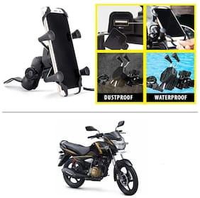 AutoStark Grip Premium Bike Mobile Charger & Phone Holder Version 2 for TVS Victor New
