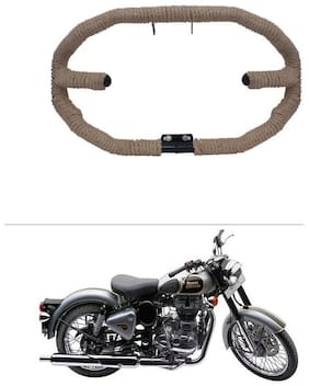 AutoStark Heavy Duty 8 Bent with Black Rope Safety Leg Guard Crash Guard - Royal Enfield Classic 500