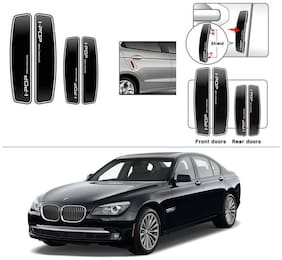 AutoStark I-POP Shine Black Car Door Guard Scratch Protector for BMW 5-Series Old - Butterfly Lights (520D;525D;530D;535i;530M)
