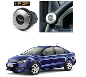 AutoStark i-Pop Mini Silver Car Steering Wheel Power Holder Knob-Volkswagen Vento TSI 2015