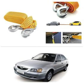 AutoStark Long & Strong Heavy Duty Car Tow Cable 3 Ton rescue rope for Hyundai Accent