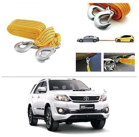AutoStark Long & Strong Heavy Duty Car Tow Cable 3 Ton rescue rope for Toyota Fortuner 2015