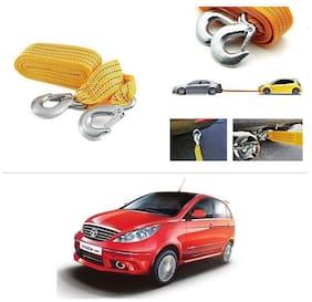 AutoStark Long & Strong Heavy Duty Car Tow Cable 3 Ton rescue rope for Tata Vista Tech