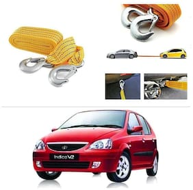 AutoStark Long & Strong Heavy Duty Car Tow Cable 3 Ton rescue rope for Tata Indica V2 Xeta
