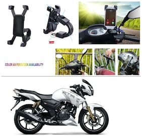 AutoStark Motorcycle Mount Cell Phone Holder/Installed to Motorcycle Rearview mirror Phone Mount For TVS Apache RTR 180