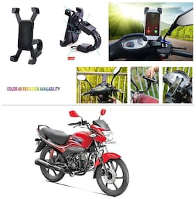 AutoStark Motorcycle Mount Cell Phone Holder/Installed to Motorcycle Rearview mirror Phone Mount For Hero Passion Pro