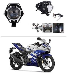 AutoStark Motorycle Fog Light Bike Projector Auxillary Spot Beam Light Set Of 2 For Yamaha R15 s