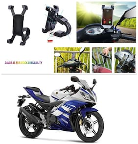 AutoStark Motorcycle Mount Cell Phone Holder/Installed to Motorcycle Rearview mirror Phone Mount For Yamaha R15 s
