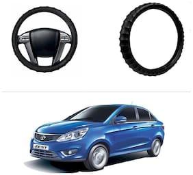 AutoStark Premium Finger Grip Steering Cover Black For Tata Zest