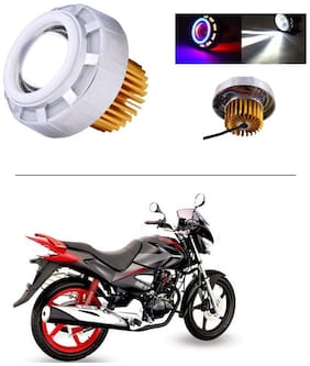 AutoStark Projector Lamp Led headlight Lens projector ( High beam, Low Beam, Flasher function Blue ,Red and White For - Honda CBZ Xtreme