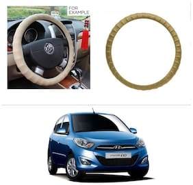 AutoStark Premium Finger Grip Steering Cover Beige For Hyundai I10