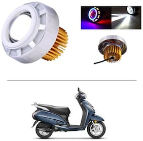 AutoStark Projector Lamp Led headlight Lens projector ( High beam, Low Beam, Flasher function Blue ,Red and White For - Honda Activa 3G