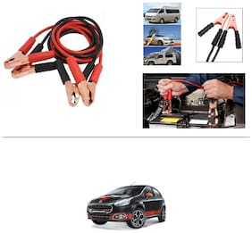 AutoStark Premium Quality Car 500A Heavy Duty Copper Core Tangle Booster 7.5 Ft Battery Jumper Cable for Fiat Abarth Punto