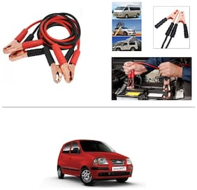 AutoStark Premium Quality Car 500Amp Heavy Duty Copper Core Tangle Booster 7.5 Ft Battery Jumper Cable for Hyundai Santro Xing