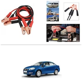 AutoStark Premium Quality Car 500A Heavy Duty Copper Core Tangle Booster 7.5 Ft Battery Jumper Cable for Fiat Linea