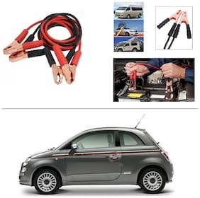 AutoStark Premium Quality Car 500A Heavy Duty Copper Core Tangle Booster 7.5 Ft Battery Jumper Cable for Fiat Abarth