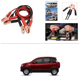AutoStark Premium Quality Car 500A Heavy Duty Copper Core Tangle Booster 7.5 Ft Battery Jumper Cable for Mahindra Nuvosport
