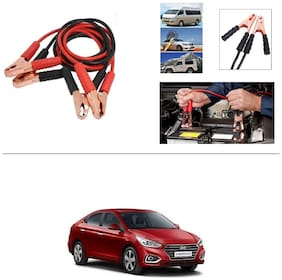 AutoStark Premium Quality Car 500A Heavy Duty Copper Core Tangle Booster 7.5 Ft Battery Jumper Cable for Hyundai Verna