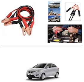 AutoStark Premium Quality Car 500Amp Heavy Duty Copper Core Tangle Booster 7.5 Ft Battery Jumper Cable for Tata Zest
