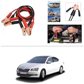 AutoStark Premium Quality Car 500A Heavy Duty Copper Core Tangle Booster 7.5 Ft Battery Jumper Cable for Skoda Superb