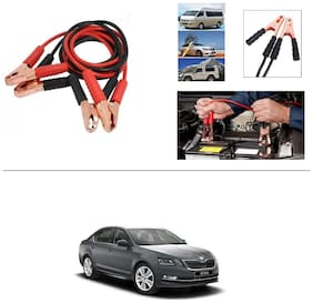 AutoStark Premium Quality Car 500A Heavy Duty Copper Core Tangle Booster 7.5 Ft Battery Jumper Cable for Skoda Octavia