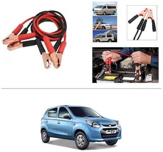 AutoStark Premium Quality Car 500A Heavy Duty Copper Core Tangle Booster 7.5 Ft Battery Jumper Cable for Maruti Suzuki Alto 800