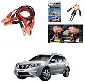 AutoStark Premium Quality Car 500A Heavy Duty Copper Core Tangle Booster 7.5 Ft Battery Jumper Cable for Nissan Terrano