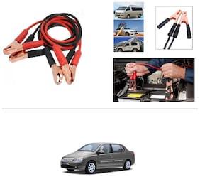 AutoStark Premium Quality Car 500A Heavy Duty Copper Core Tangle Booster 7.5 Ft Battery Jumper Cable for Tata Indigo XL