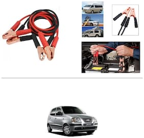 AutoStark Premium Quality Car 500A Heavy Duty Copper Core Tangle Booster 7.5 Ft Battery Jumper Cable for Hyundai Santro