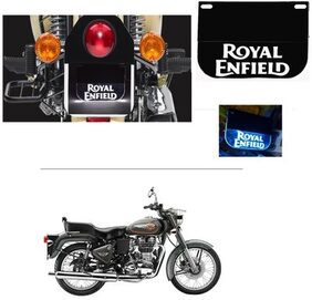AutoStark  Real Customized Number Plate With Blue led light For For  Royal Enfield Bullet 500