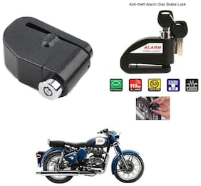 AutoStark-Security Alarm Disk Lock Motorbike Bike Scooter Loud Disc Brake Lock  Security Anti-Theft Alarm For  Royal Enfield Classic 350