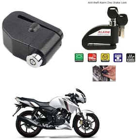 AutoStark-Security Alarm Disk Lock Motorbike Bike Scooter Loud Disc Brake Lock  Security Anti-Theft Alarm For  TVS Apache RTR 160