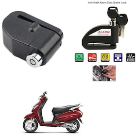 AutoStark-Security Alarm Disk Lock Motorbike Bike Scooter Loud Disc Brake Lock  Security Anti-Theft Alarm For  Honda Activa 125