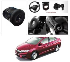 AutoStark Silicone Flat Compact Safe Slim Power Handle Steering Wheel Spinner Knob Honda City i-DTEC