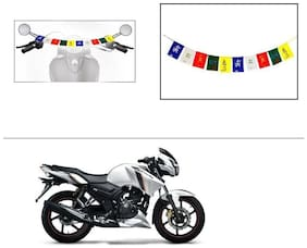 AutoStark Small Size Motorycle Ladakh Prayer Flags Tibet Prayer Flags For TVS Apache RTR 160